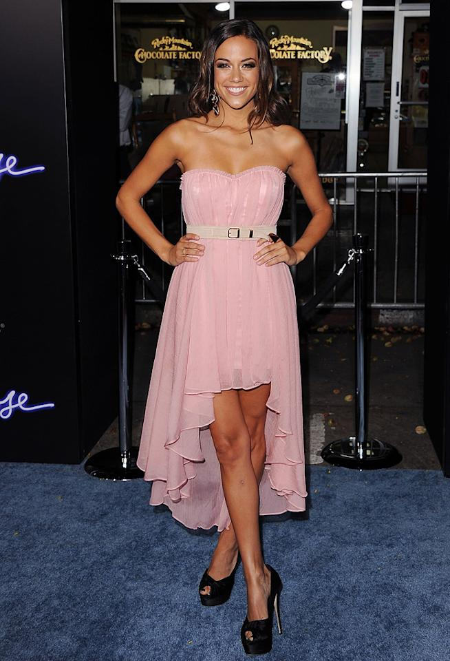 """<a href=""""http://movies.yahoo.com/movie/contributor/1808895208"""">Jana Kramer</a> at the Los Angeles premiere of <a href=""""http://movies.yahoo.com/movie/1810164562/info"""">Footloose</a> on October 3, 2011."""