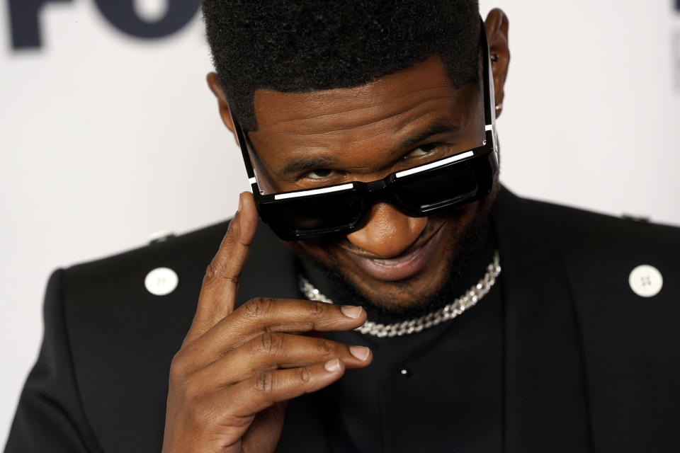 FILE - Usher attends the iHeartRadio Music Awards on May 27, 2021, in Los Angeles. The singer turns 43 on Oct. 14. (AP Photo/Chris Pizzello, File)