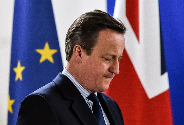 David Cameron quit as prime minister after Britain voted to leave the European Union in a referendum (AFP Photo/Philippe Huguen)
