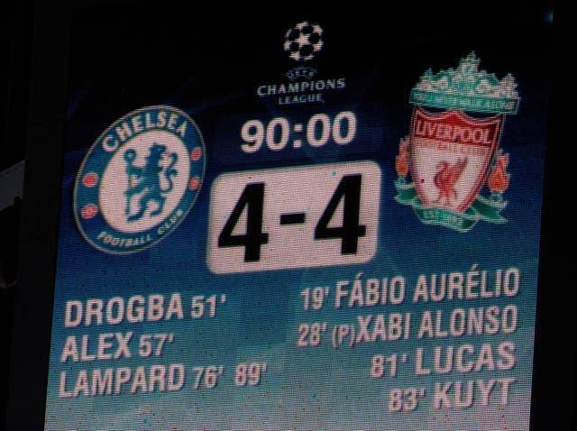 Soccer – UEFA Champions League – Quarter Final – Second Leg – Chelsea v Liverpool – Stamford Bridge