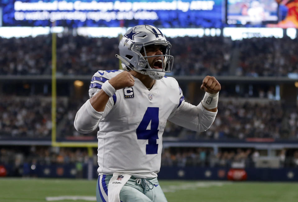 Dak Prescott and the Cowboys clinched the NFC East title with a win over the Buccaneers. (AP)