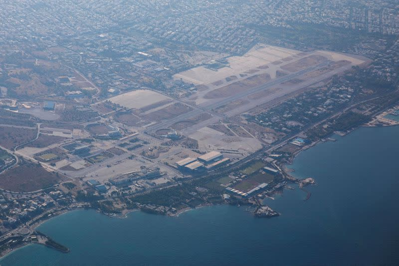 FILE PHOTO: An aerial view of the former airport complex of Hellenikon, in Athens