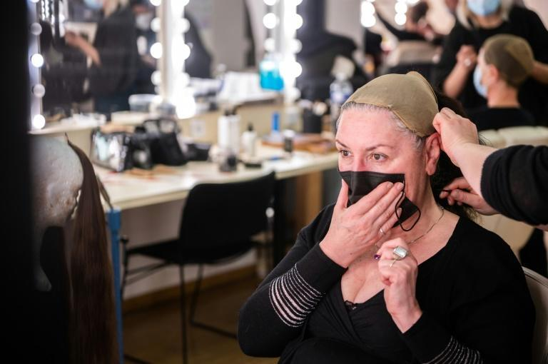 Having a mask strapped across one's face is far from ideal, says chorus member Sylvie Delaunay
