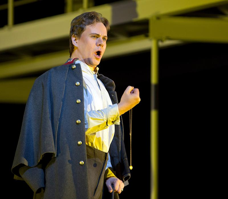 "In this March 18, 2013 photo provided by the Metropolitan Opera, Alexey Markov plays Valentin during a dress rehearsal of ""Faust"" at the Metropolitan Opera in New York. (AP Photo/Metropolitan Opera, Cory Weaver)"