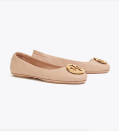"""<p><strong>Tory Burch</strong></p><p>toryburch.com</p><p><a href=""""https://go.redirectingat.com?id=74968X1596630&url=https%3A%2F%2Fwww.toryburch.com%2Fminnie-travel-ballet-flat--quilted-leather%2F50736.html&sref=https%3A%2F%2Fwww.townandcountrymag.com%2Fstyle%2Ffashion-trends%2Fg36288861%2Ftory-burch-sale-april-2021%2F"""" rel=""""nofollow noopener"""" target=""""_blank"""" data-ylk=""""slk:Shop Now"""" class=""""link rapid-noclick-resp"""">Shop Now</a></p><p>$179</p><p><em>Original Price: $238</em></p>"""