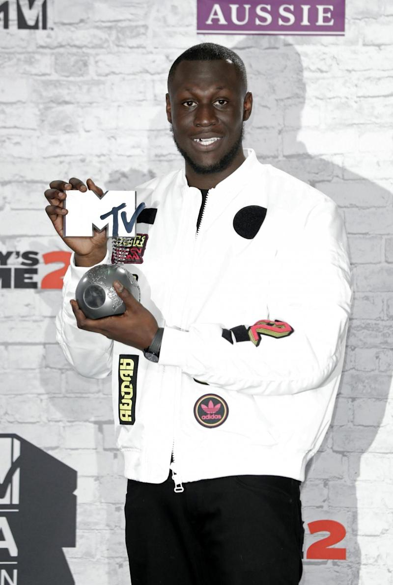 Award winner: Stormzy at the MTV EMAs in London (Getty Images for MTV)