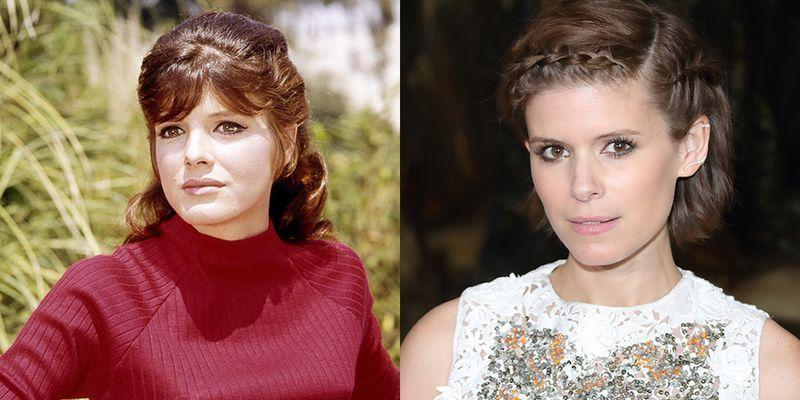 <p>Are we seeing double? We think it's their brown eyes that make Kate Mara look just like <em>The Graduate</em> star Katharine Ross.</p>