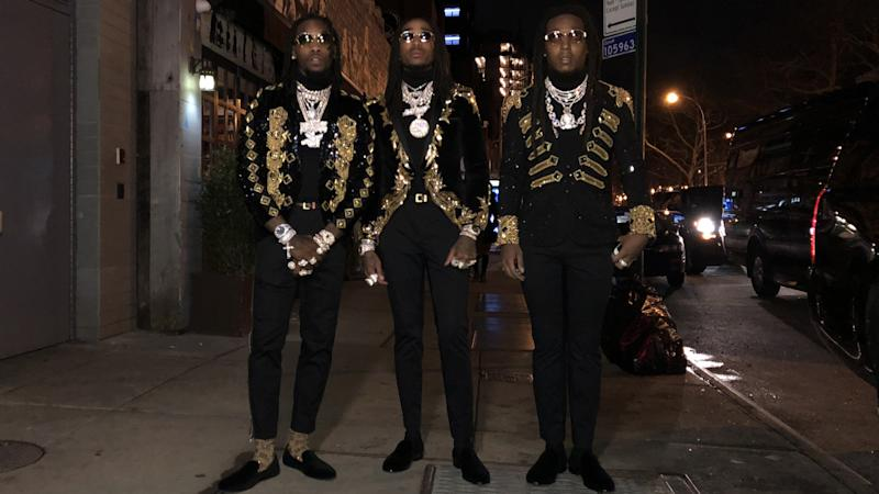 6d77db2246cd Migos Reveal the Inspiration Behind Their Epic Grammys Looks