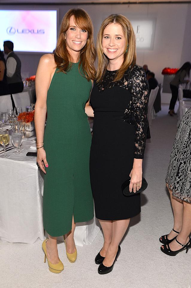 BEVERLY HILLS, CA - OCTOBER 15:  Honoree Kristen Wiig (L) and actress Jenna Fischer attend ELLE's 19th Annual Women In Hollywood Celebration at the Four Seasons Hotel on October 15, 2012 in Beverly Hills, California.  (Photo by Alberto E. Rodriguez/WireImage)