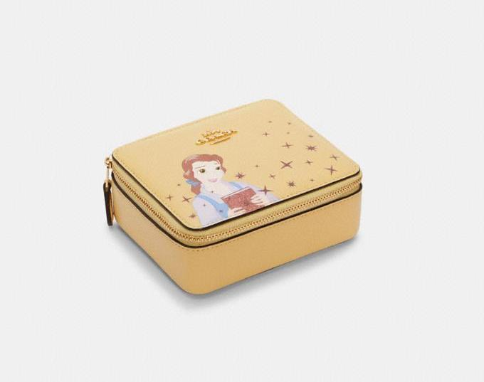 Disney X Coach Large Jewelry Box With Belle. Image via Coach Outlet.