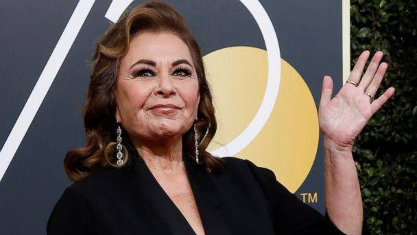 PHOTO: Roseanne Barr waves on her arrival to the 75th Golden Globe Awards in Beverly Hills, Calif., Jan. 7, 2018. (Mario Anzuoni/Reuters, FILE)