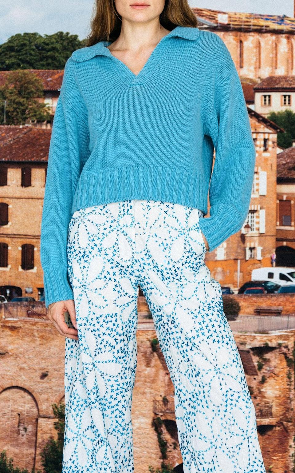 <p>We really like this <span>Ciao Lucia Torino V-Neck Sweater</span> ($315). The blue is such a pretty color, and it's so easy to style.</p>
