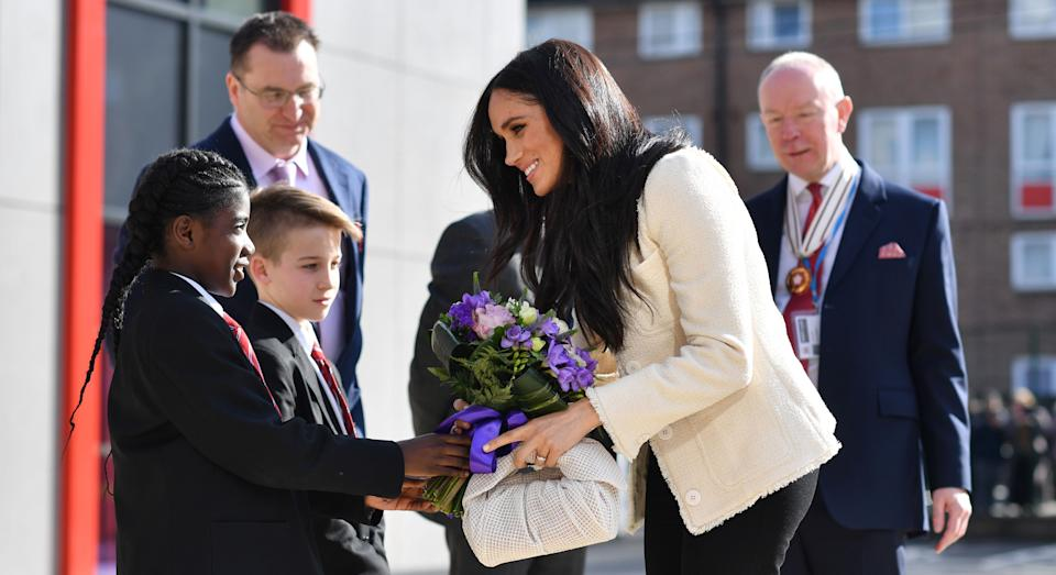 """Meghan Markle has insisted all women have a """"right to speak up for what is right"""" in a new International Women's Day post [Image: Getty]"""