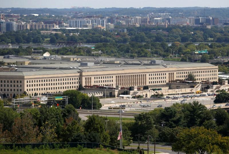 The Pentagon is shown in Arlington, Virginia