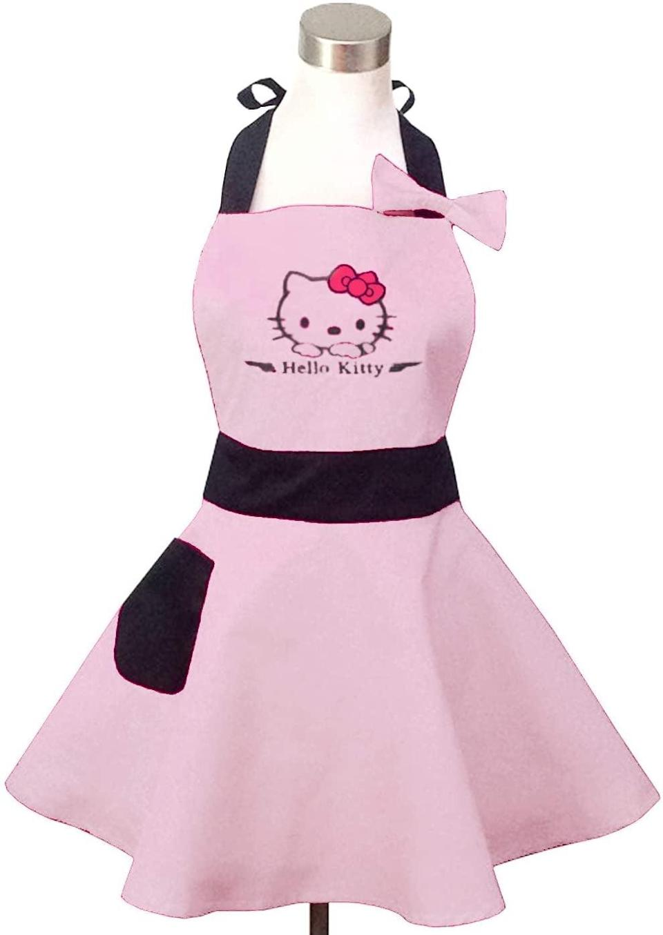 <p>Look cute in the kitchen with the <span>Hyzrz Lovely Hello Kitty Cute Retro Apron</span> ($16).</p>