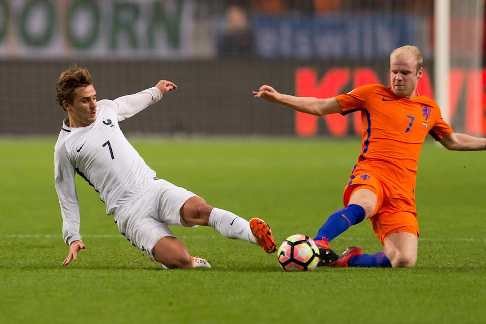 The Netherlands and France clash on Thursday in a qualifier that could cause one the two European powers to miss the World Cup. (Getty)