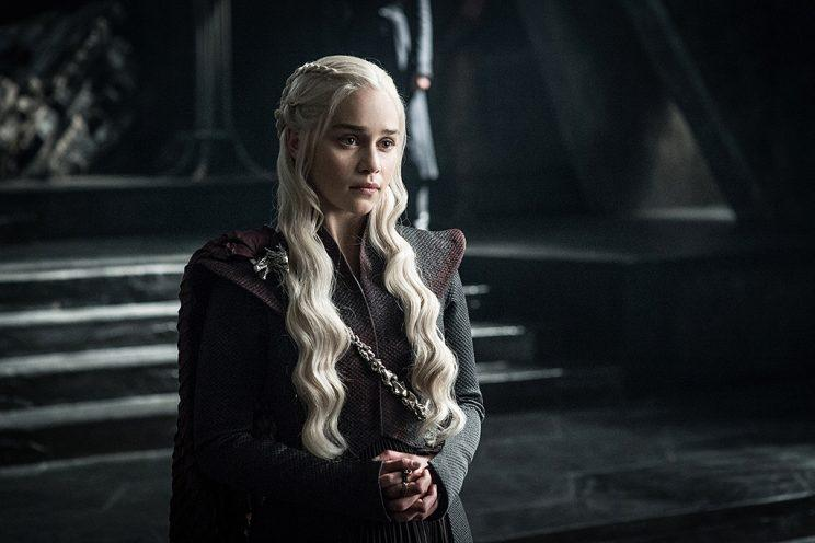 Emilia Clarke as Daenerys Targaryen in HBO's Game of Thrones . (Photo Credit: HBO)