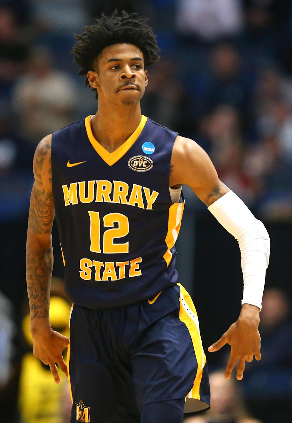 <p>17 points, 16 assists and 12 rebounds vs. Marquette, West Regional first round, March 21, 2019. </p>