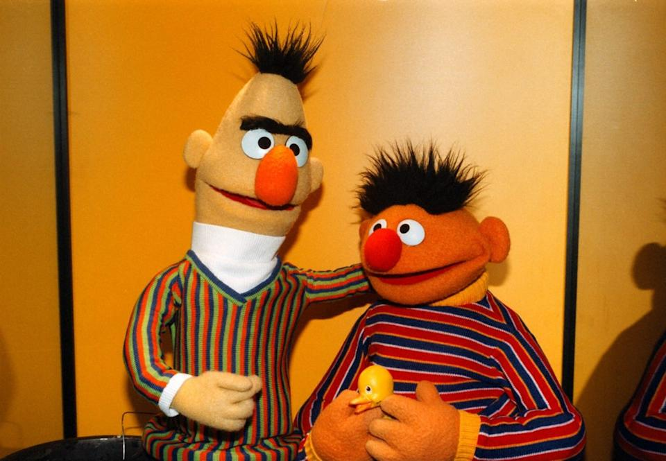 Bert & Ernie, 'Sesamstraße' ARD, Sesamstrasse,, (Photo by Pet