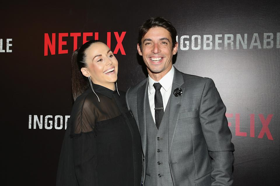 MEXICO CITY, MEXICO - MARCH 22:  Zuria Vega and Alberto Guerra attend the launch of Netflix's series