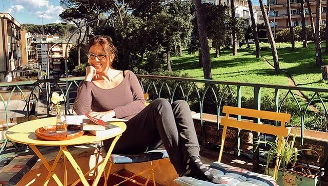 In a photo made remotely, the actress and director Francesca Nanni in Rome in April 2021. (Tayler Smith/The New York Times)