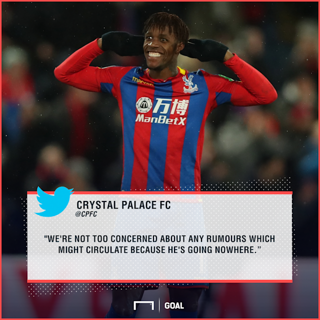 The Ivory Coast international's form has led to rumours he could leave Crystal Palace, but Roy Hodgson insists the forward will stay at Selhurst Park