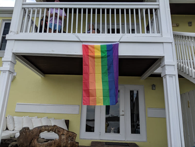 Robin Chipman received a letter from her home owner's association asking her to take down her gay pride flag, or pay hefty fines. (Credit: Robin Chipman)