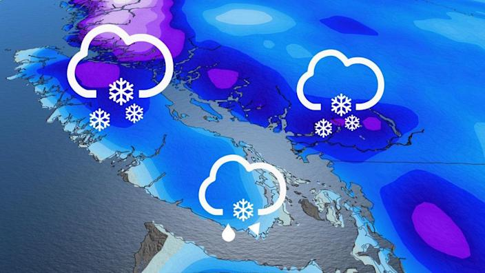 Weekend snow threat for B.C.'s South Coast as freezing levels sink
