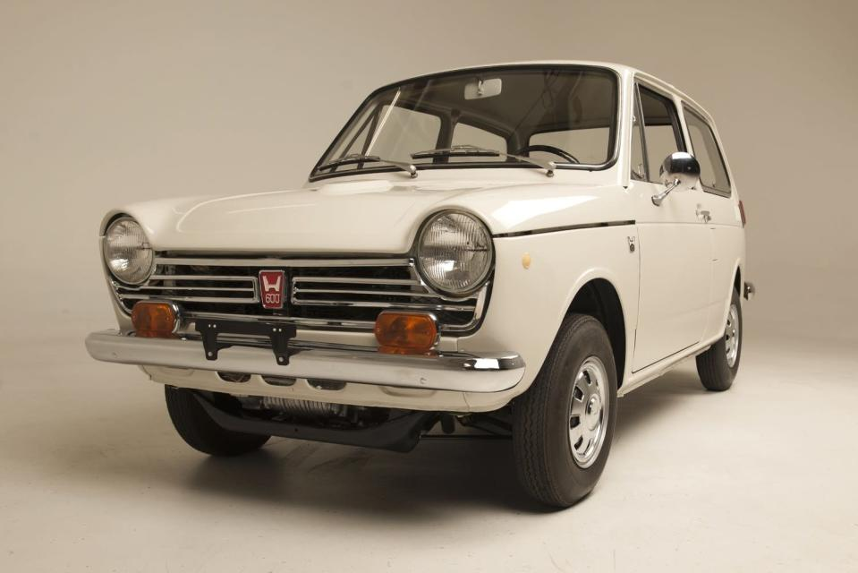 """The first Honda car sold in America has been completely restored. Known as """"Serial One,"""" it's a diminutive N600 built in 1969, with a two-cylinder engine and a top speed of just 81 mph."""
