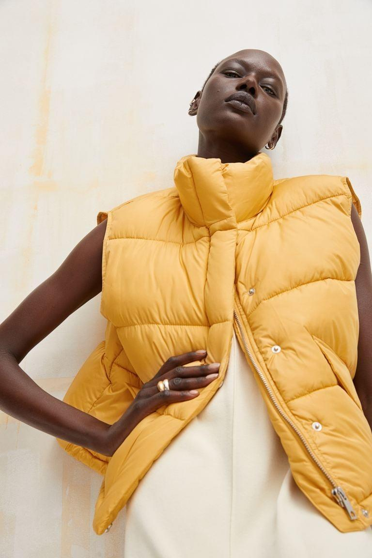 <p>We can't say no to this <span>H&amp;M Stand-up-collar Puffer Vest</span> ($35). We love it in the vibrant yellow, but it also comes in black and pink.</p>