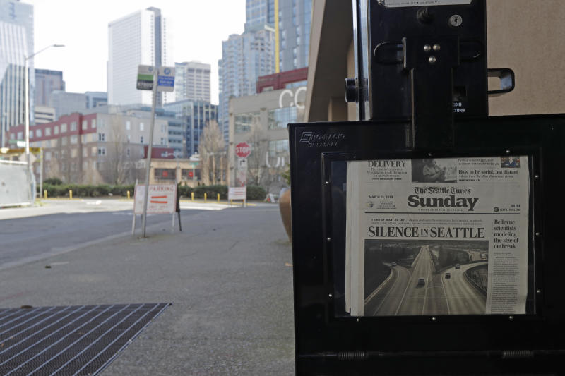 A Seattle Times newspaper box