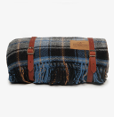 """Pendleton Motor Robe Blanket with Leather Carrier, $110; at <a href=""""http://www.poketo.com/collections/textiles/products/copy-of-copy-of-copy-of-pendleton-motor-robe-blanket-with-leather-carrier-lost-lake"""" rel=""""nofollow noopener"""" target=""""_blank"""" data-ylk=""""slk:Poketo"""" class=""""link rapid-noclick-resp"""">Poketo</a>"""