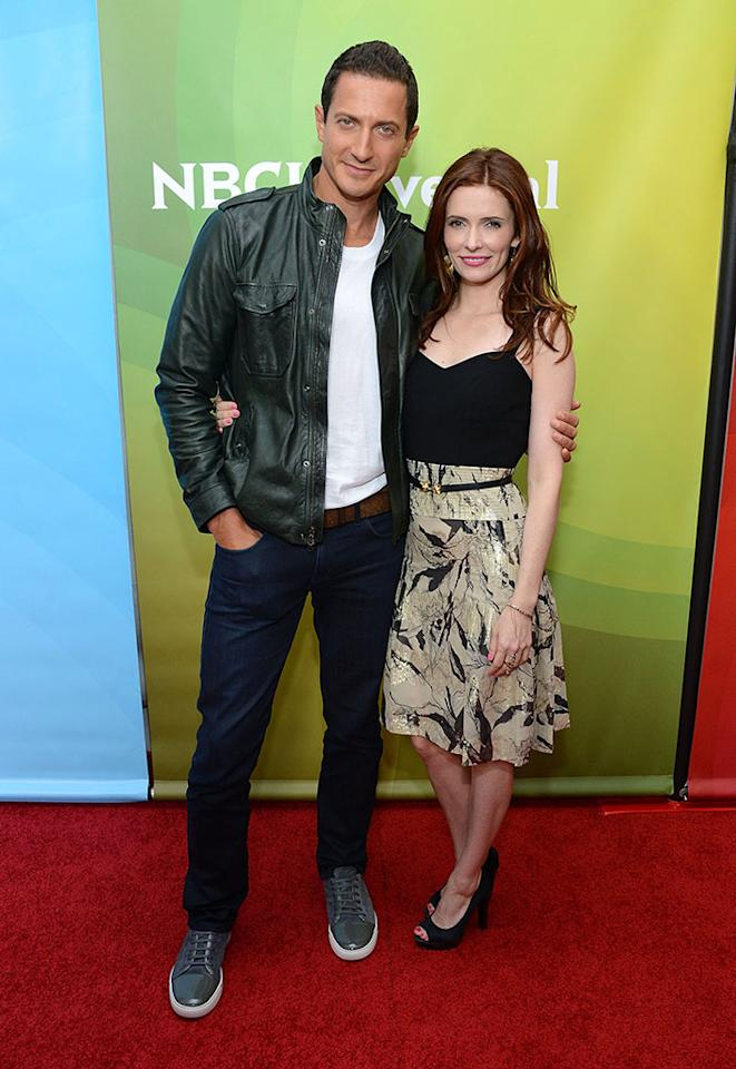 "Sasha Roiz and Bitsie Tulloch attend NBCUniversal's ""2013 Winter TCA Tour"" Day 1 at Langham Hotel on January 6, 2013 in Pasadena, California."