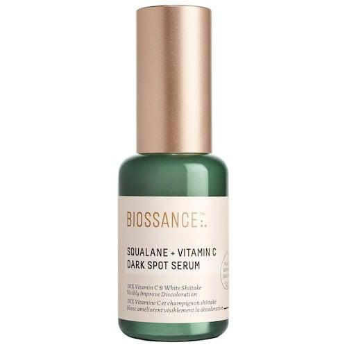 <p>The <span>Biossance Squalane + 10% Vitamin C Dark Spot Serum</span> ($62) utilizes white shiitake mushrooms, as well as vitamin C, to help fade the appearance of dark spots and get rid of dullness. </p>