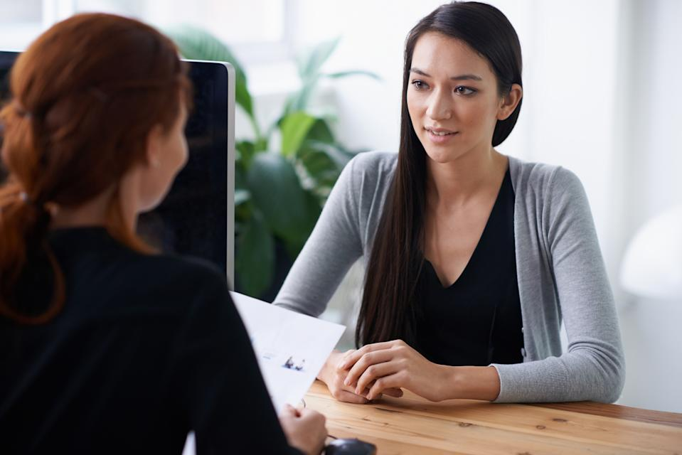'Why are you leaving your current job?' Don't be caught out by one of the most common interview questions. (Source: Getty)