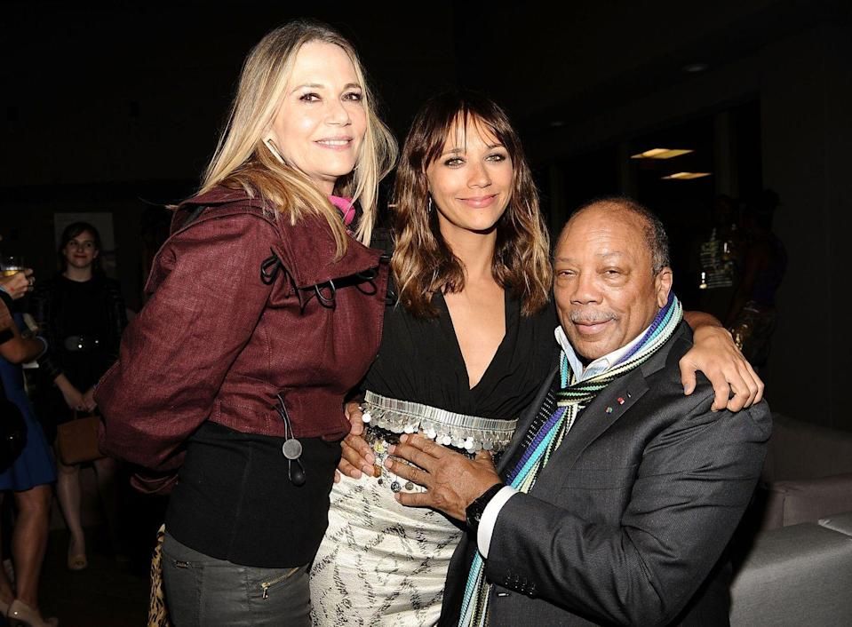 """<p><strong>Famous parent(s)</strong>: producer Quincy Jones and actress/model Peggy Lipton<br><strong>What it was like</strong>: """"Once, my sister, Michael [Jackson], Emmanuel Lewis and I got in a car with Super Soakers and went by a movie theater and supersoaked the hell out of people waiting in line,"""" she's <a href=""""http://www.huffingtonpost.com/2011/10/12/rashida-jones-talks-micha_n_1007311.html"""" rel=""""nofollow noopener"""" target=""""_blank"""" data-ylk=""""slk:said"""" class=""""link rapid-noclick-resp"""">said</a>. """"They had no idea they'd just been supersoaked by the King of Pop.""""</p>"""