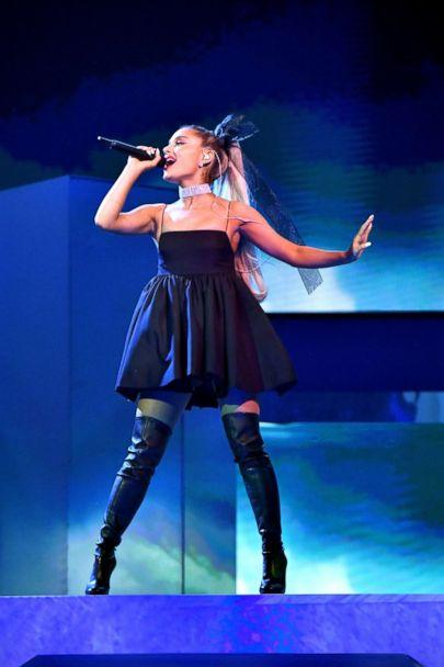 PHOTO: Ariana Grande performs onstage during the 2018 Billboard Music Awards at MGM Grand Garden Arena on May 20, 2018 in Las Vegas. (Jeff Kravitz/Getty Images)