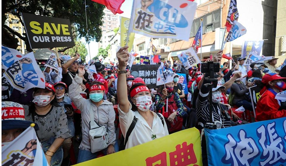 Opinion polls have shown many people are concerned about freedom of expression in Taiwan. Photo: CNA