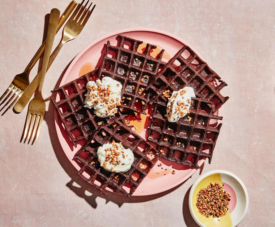 """Nutritious waffles? They do exist! <a href=""""https://www.bonappetit.com/recipe/gluten-free-chocolate-and-buckwheat-waffles?mbid=synd_yahoo_rss"""" rel=""""nofollow noopener"""" target=""""_blank"""" data-ylk=""""slk:See recipe."""" class=""""link rapid-noclick-resp"""">See recipe.</a>"""