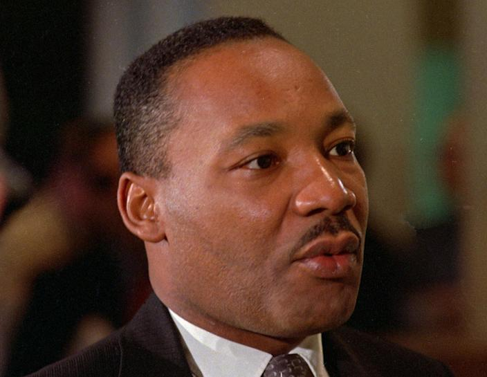 <p>Dr. Martin Luther King Jr. in Atlanta, Ga. on Oct. 24, 1966. (AP Photo) </p>