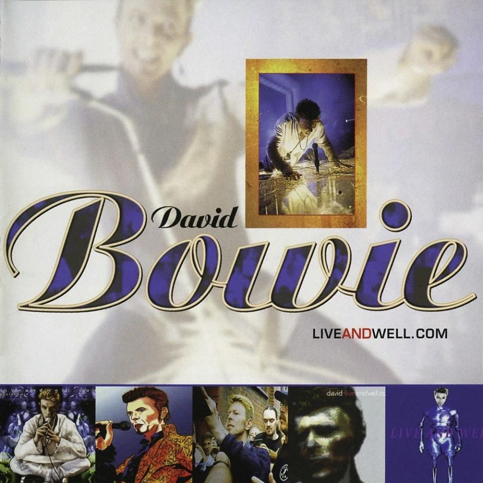 """This album cover image released by Rhino Records shows """"LiveAndWell.Com,"""" by David Bowie, available on May 15, (Rhino Records via AP)"""