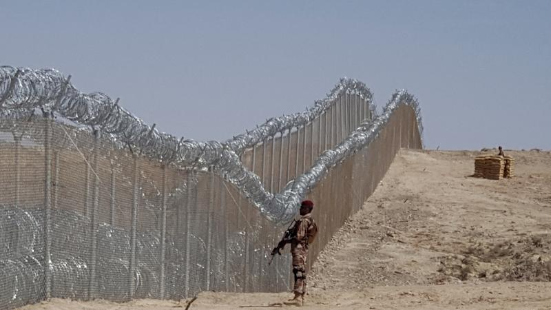 A fence along the Pakistan-Iran border is being built officials say. One is already in place on the Pakistan-Afghan border (AFP Photo/BANARAS KHAN)