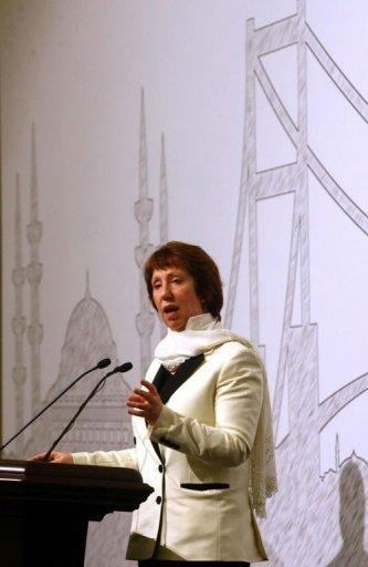 European Union's Foreign Policy chief Catherine Ashton gives a press conference in Istanbul. Iran and world powers agreed in nuclear talks Saturday to hold a more in-depth meeting in Baghdad on May 23 where, the EU's foreign policy chief warned Tehran, concrete results must be achieved