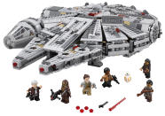 <p>The brick version of the fastest hunk of junk in the galaxy comes with six 'Force Awakens' minifigures.</p>