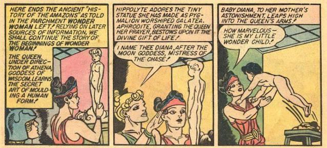 The birth of Diana, as originally conceived by William Moulton Marston in 1941. (Credit: DC Comics)