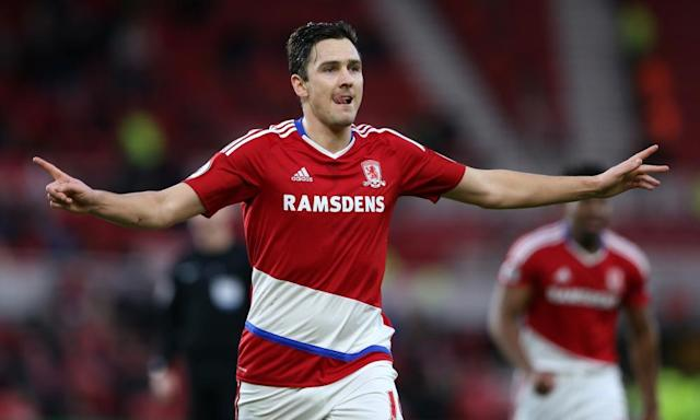 """<span class=""""element-image__caption"""">Middlesbrough's Stewart Downing has been backed by the caretaker manager Steve Agnew to help the club avoid relegation.</span> <span class=""""element-image__credit"""">Photograph: Scott Heppell/Reuters</span>"""