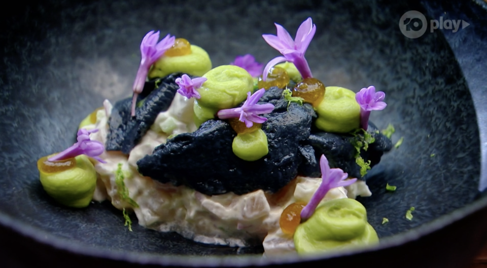 The judges weren't all that impressed by Reynold's dish either with Callum winning the round. Photo: Ten