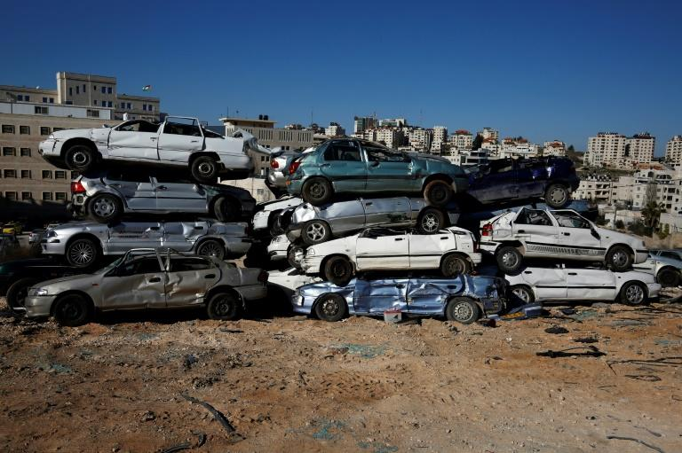 Throughout the West Bank vacant lots covered with crushed cars witness a police crackdown on vehicles brought in from Israel