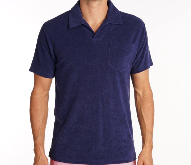 "<p><strong>Terrycloth Polo</strong></p><p>criquetshirts.com</p><p><strong>$84.00</strong></p><p><a href=""https://criquetshirts.com/products/terrycloth-polo-navy"" rel=""nofollow noopener"" target=""_blank"" data-ylk=""slk:Shop Now"" class=""link rapid-noclick-resp"">Shop Now</a></p><p>Chevy Chase, Arnie Palmer, JFK—they're the inspiration behind Criquet's approach to the polo. Dare you go terry cloth? (Do it.)</p>"