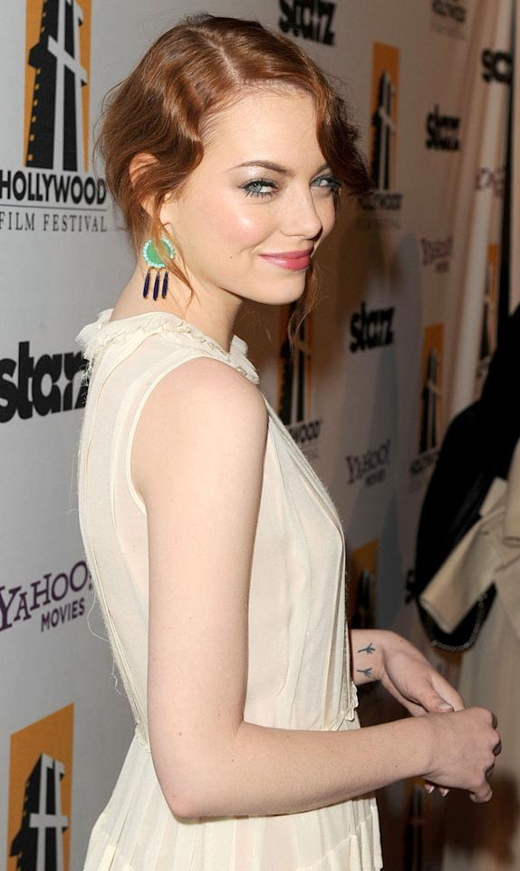 Emma Stone's birthday is November 6. She turns 23. (10/24/2011)